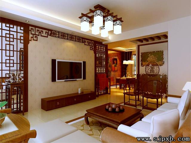 中式风格的天花板的装修主要分天花和藻井方式